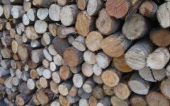 兵庫県にある木材屋さんのまき
